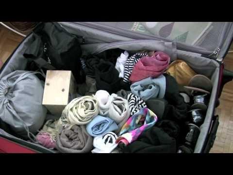 faire sa valise bien rangée